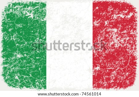 vector grunge styled flag of Italy - stock vector