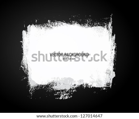 Vector grunge white paint abstract background - stock vector