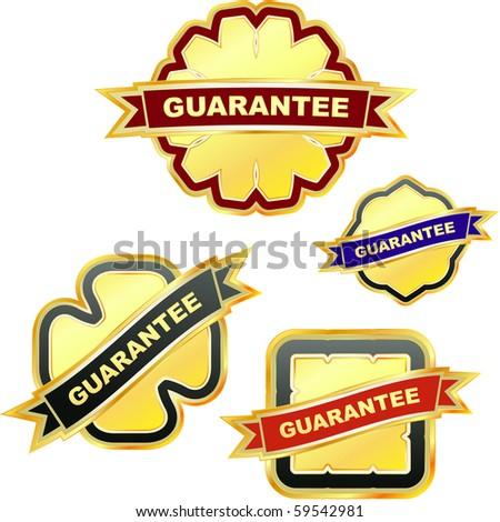 Vector guarantee label set. - stock vector
