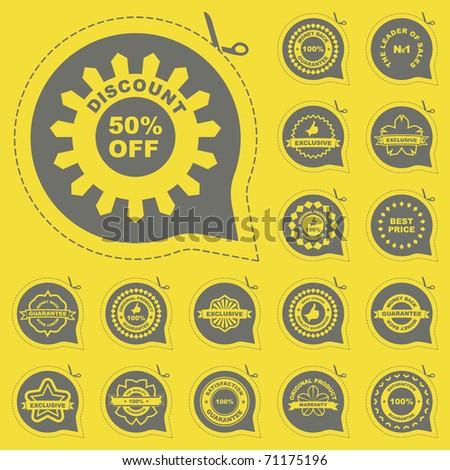 Vector guarantee label set for sale. - stock vector