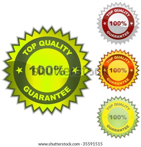 Vector guarantee label. Vector set. - stock vector
