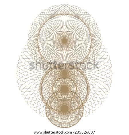 vector guilloche rosette certificate or diplomas, decorative elements - stock vector