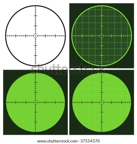 vector gun crosshair sight - stock vector