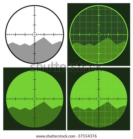 vector gun crosshair sight - stock vector