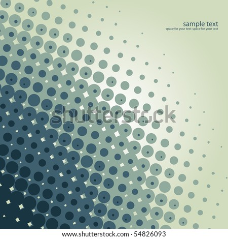 vector halftone background design illustration - stock vector