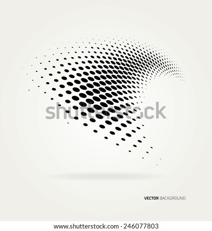 Vector halftone dots - stock vector