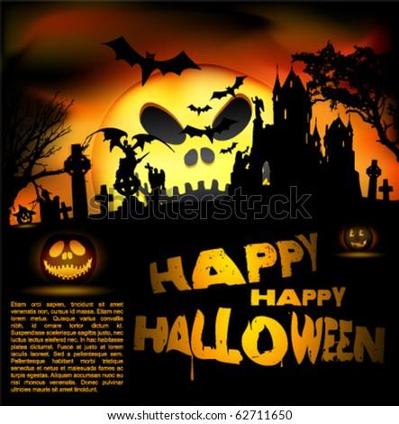 Vector Halloween flayer EPS. 10 - stock vector