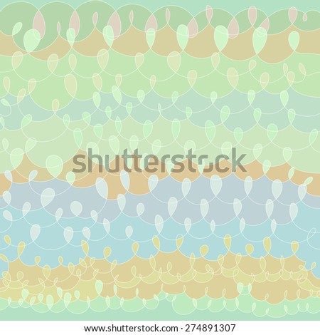 Vector hand drawn colorful knit shape design background. Seamless pattern. - stock vector