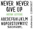 Vector Hand-drawn cute Alphabet - stock vector