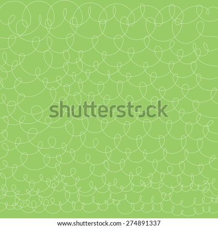Vector hand drawn green knit shape design background. Seamless pattern. - stock vector