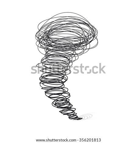 Vector hand-drawn illustrations. Cyclone tornado - stock vector