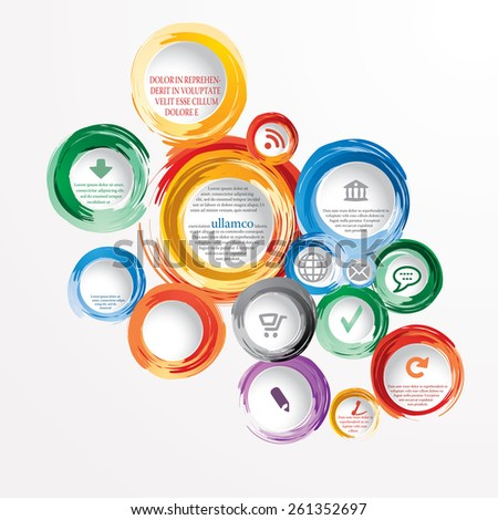 vector hand drawn infographic circles - stock vector