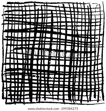 Vector hand drawn lines. Blak chalk lines pattern isolated on white. Grunge texture. - stock vector
