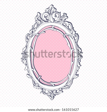 Vector hand drawn vintage frame. - stock vector