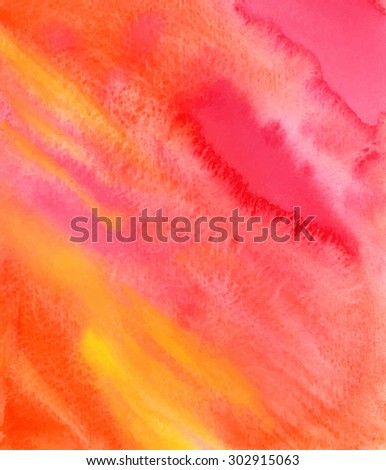 Vector hand-drawn watercolor background, texture. Abstract. Colorful template. EPS 8 - stock vector