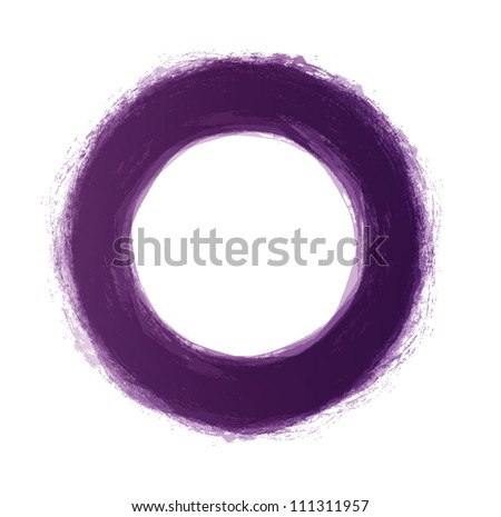 Vector hand-painted purple circle - stock vector