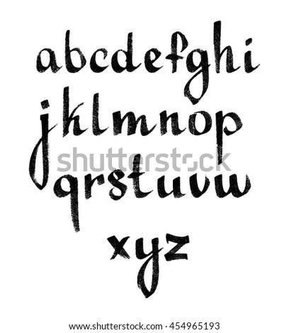 Vector hand-written alphabet. - stock vector