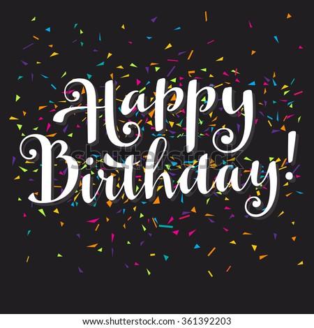 Happy Birthday Modern Calligraphy Stock Photos Images Modern Happy Birthday Wishes