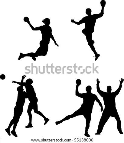 vector handball - stock vector