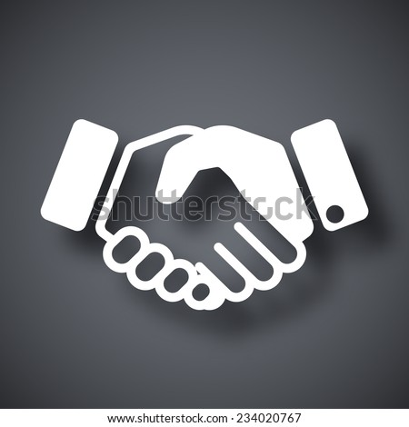 Vector handshake icon - stock vector