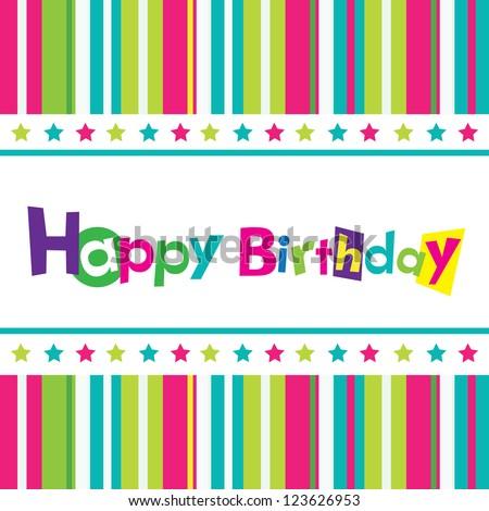Vector happy birthday - stock vector