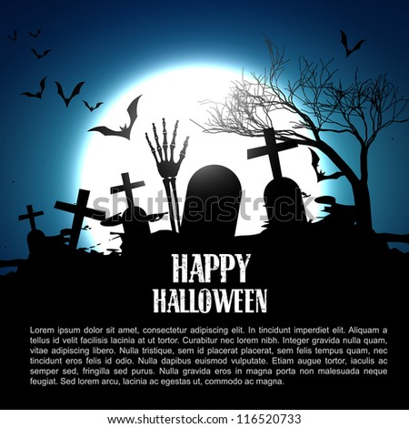 vector happy halloween design illustration - stock vector