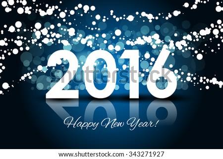 Vector 2016 - Happy New year background - stock vector