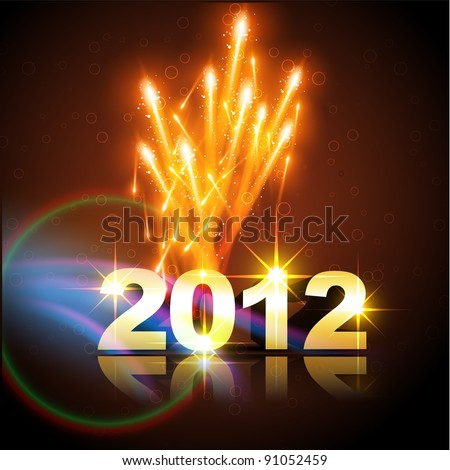 vector happy new year background illustration - stock vector