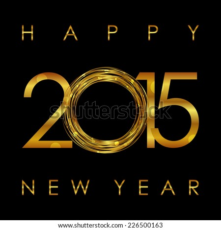 Vector - 2015 Happy New Year glowing background - stock vector