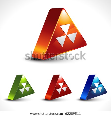 vector hazard icon shape - stock vector