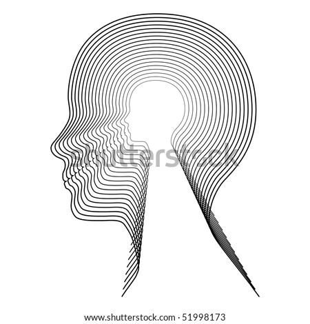 Vector head. - stock vector