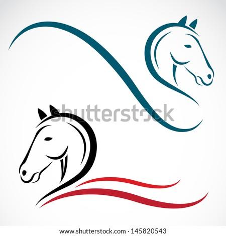 Vector head of horse  - stock vector