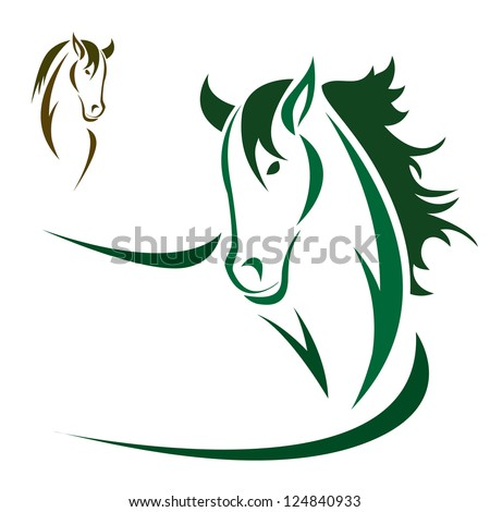 Vector head of horse on a white background - stock vector