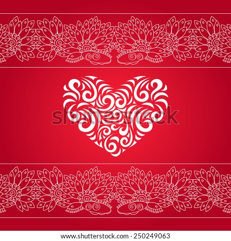 Vector Heart. Elements for cards, gifts, crafts, invitation, presentation, card, Valentines Day, Christmas, birthday, wedding. Vector illustration. - stock vector