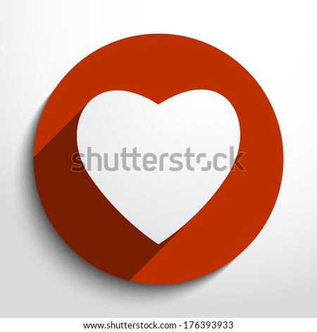 Vector heart Icon. - stock vector