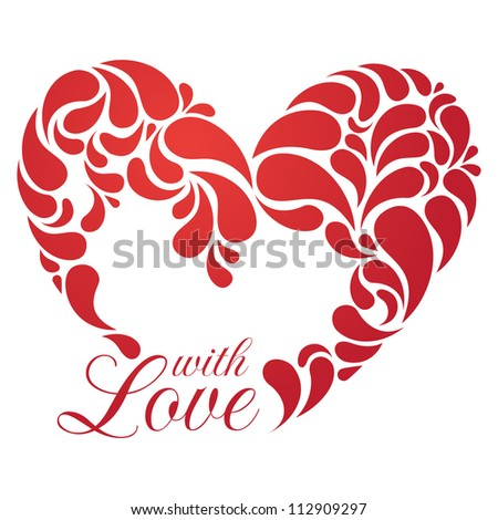 Vector heart illustration for romantic design. EPS 8. - stock vector