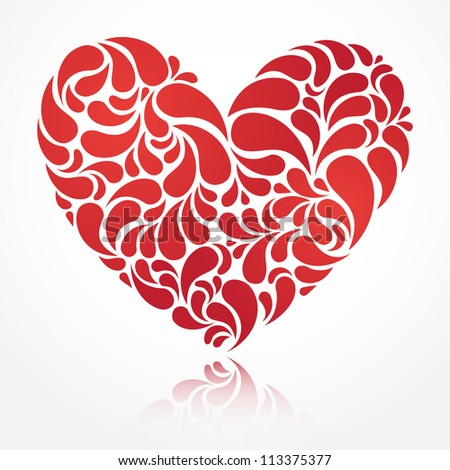 Vector heart illustration for Valentine's Day design. EPS 10. - stock vector