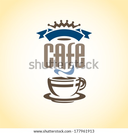 Vector Heraldic Cafe Coffee Royal Crest, Coat of Arms - stock vector