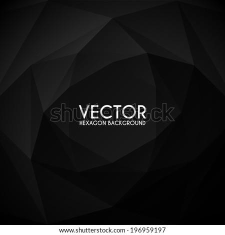 vector hexagon abstract background - stock vector