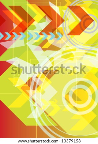 Vector Hi-Tech Abstract Futuristic Background. Great as a background or a design element. - stock vector