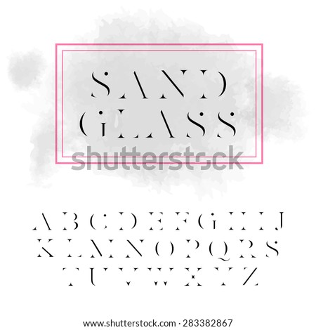 "Vector high contrast font ""Sandglass"". High quality design element - stock vector"