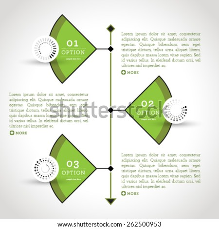 Vector high quality business infographic elements for web and print usage. - stock vector
