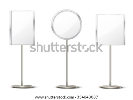 vector holder stands - stock vector
