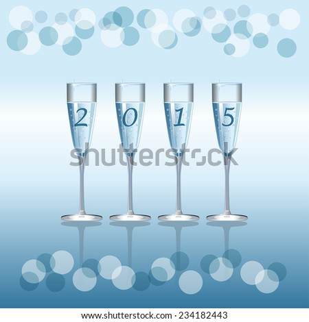 Vector holiday background with Champagne Flutes - stock vector
