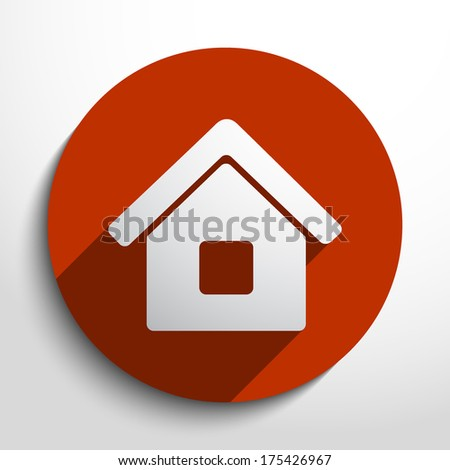 Vector home icon background - stock vector