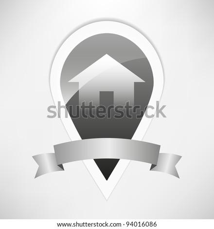 vector home icon design - stock vector