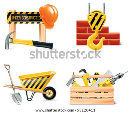 Vector Homebuilding & Renovating icon set. Part 4 - stock vector