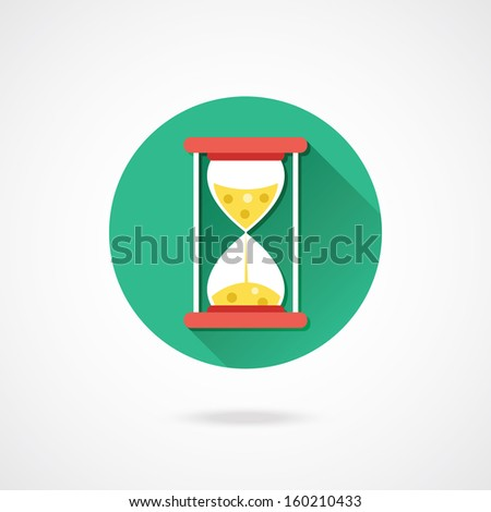 Vector Hourglass Icon - stock vector