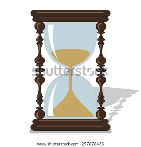 Vector hourglass. Time to live. Vintage clock. File format eps 10 - stock vector