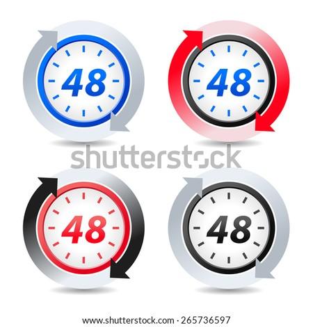 Vector 48 hours - stock vector